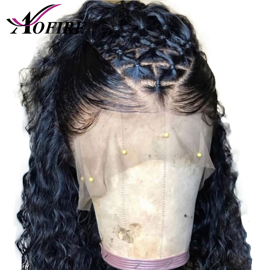 Full Lace Human Hair Wigs Transparent Lace Wig Brazilian Water Wave Remy Hair With Baby Hair Bleached Knots And Pre Plucked-in Human Hair Lace Wigs from Hair Extensions & Wigs    1