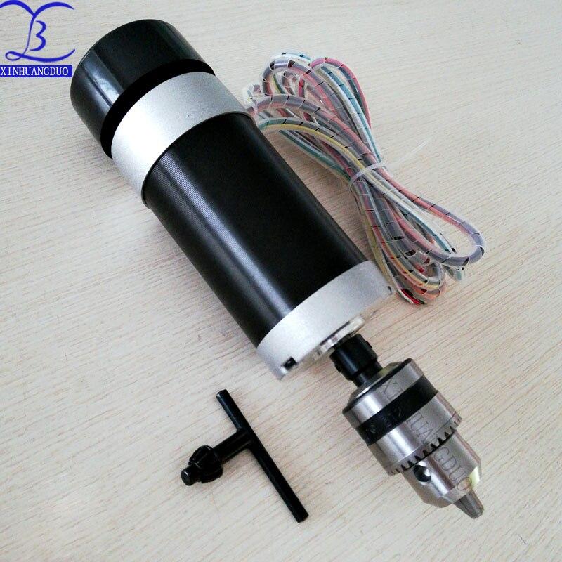 Mandrin de perceuse à moteur 500W | Mandrin de perceuse à moteur sans balais 48VDC, gravure à distance et fraisage, broche refroidie par Air + ventilateur, serrage de bouche Long 1.5 - 10 - 3