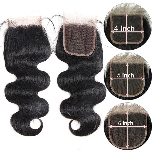 Ali Queen ludzkie dziewicze włosy wiązki z zamknięciem HD przezroczyste zamknięcie koronki z wiązkami brazylijskie ciało fala jeden dawcy włosów|3/4 pasma z siateczką|   -