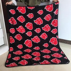 Image 3 - Cobertor vermelho para cosplay de naruto akatsuki, fecho de flanela de uchiha itachi pain nagato