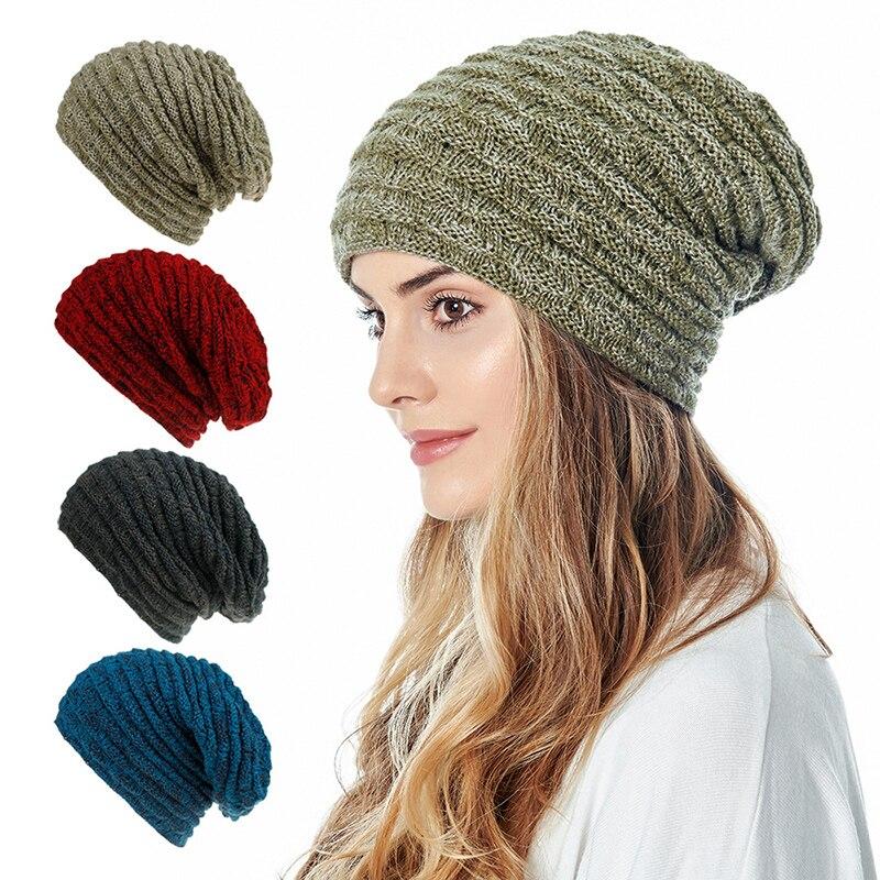 Шапка Вязанная теплая шапка Осенняя шерстяная круглый головной