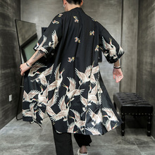 Plus Size Yukata haori men Japanese Long kimono cardigan men samurai costume clothing kimono jacket mens kimono yukata haori