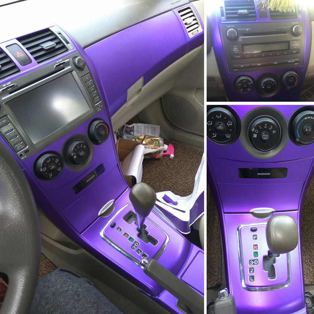 For Toyota Corolla 2007 2013 Interior Central Control Panel Door Handle 3d 5dcarbon Fiber Stickers Decals Car Styling Accessorie Aliexpress