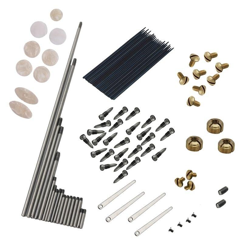 101pcs/set DIY Alto Saxophone Repair Parts Screws + Sax Key Button Inlays + Springs Woodwind Instrument Accessory