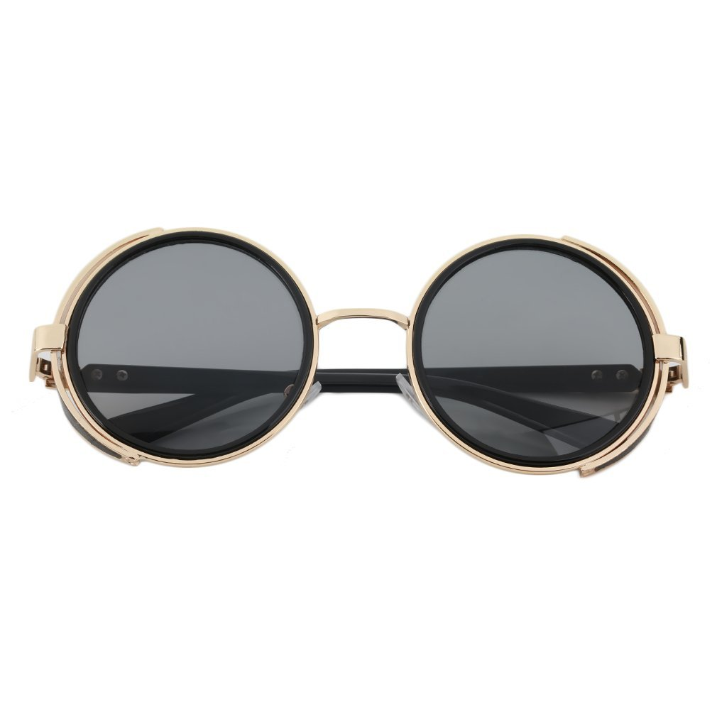 Sunglasses ABS Plastic Metal Alloy Frame Cyber Goggles Vintage Retro Style Blinder Riding Equipment Cycling Round Glasses