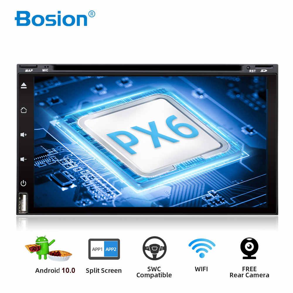 Bosion オクタコア 2 ディンアンドロイド 10 車の dvd マルチメディアプレーヤーユニバーサル 2din gps ナビオーディオステレオラジオヘッドユニット wifi PX6 4 グラム 64 グラム