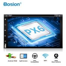 Bosion الثماني النواة 2 الدين الروبوت 10 سيارة dvd الوسائط المتعددة لاعب العالمي 2din GPS نافي الصوت ستيريو راديو و headunit wifi PX6 4G 64G