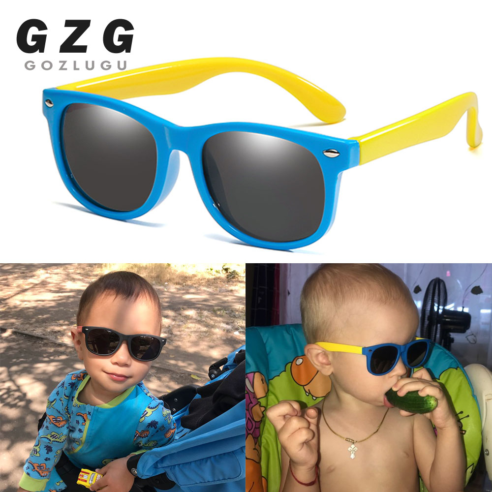 New Flexible Polarized Kids Sunglasses Child Black Sun Glasses For Baby Girls Boy Sunglasses Eyeglasses 2-11 Years Kids Glasses