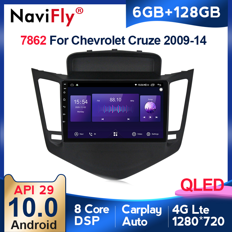 6G + 128G Android 10 QLED 4G multimedia-player Für Chevrolet Cruze 2009-2014 Auto Radio video Player Navigation GPS 2 din dvd BT