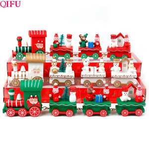 Christmas-Ornaments Xmas-Decor Wooden Little-Train Home New-Year