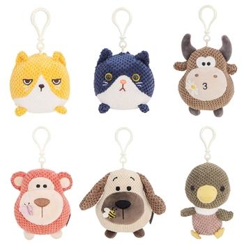 H3CD 1 sztuk sześć opcji dostępne pluszowe zabawki słodkie wisiorek zabawka w kształcie zwierzątka małpa cielę szczeniak kaczątko kot wypchana zabawka tanie i dobre opinie OOTDTY CN (pochodzenie) 4-6y 7-12y 12 + y 18 + 0-10 cm Pp bawełna Zwierzęta i Natura H3CD5CC1400060-F