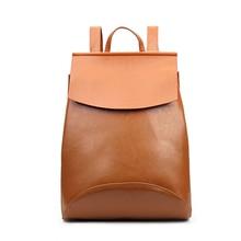 Simple Style Women Backpack High Quality Youth Leather Female Backbag for Teenage Girls School Lady Shoulder Bag Bagpack Mochila