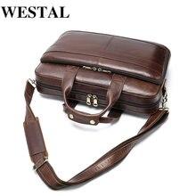 Портфель westal мужской из натуральной кожи сумка для ноутбука