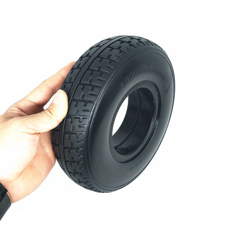 1Pc <font><b>2.80/2.50</b></font>-<font><b>4</b></font> 9 Inch Non-inflable Solid Tire Polyurethane rubber Elder Mobility Scooter Durable Practical Polyurethane rubber image