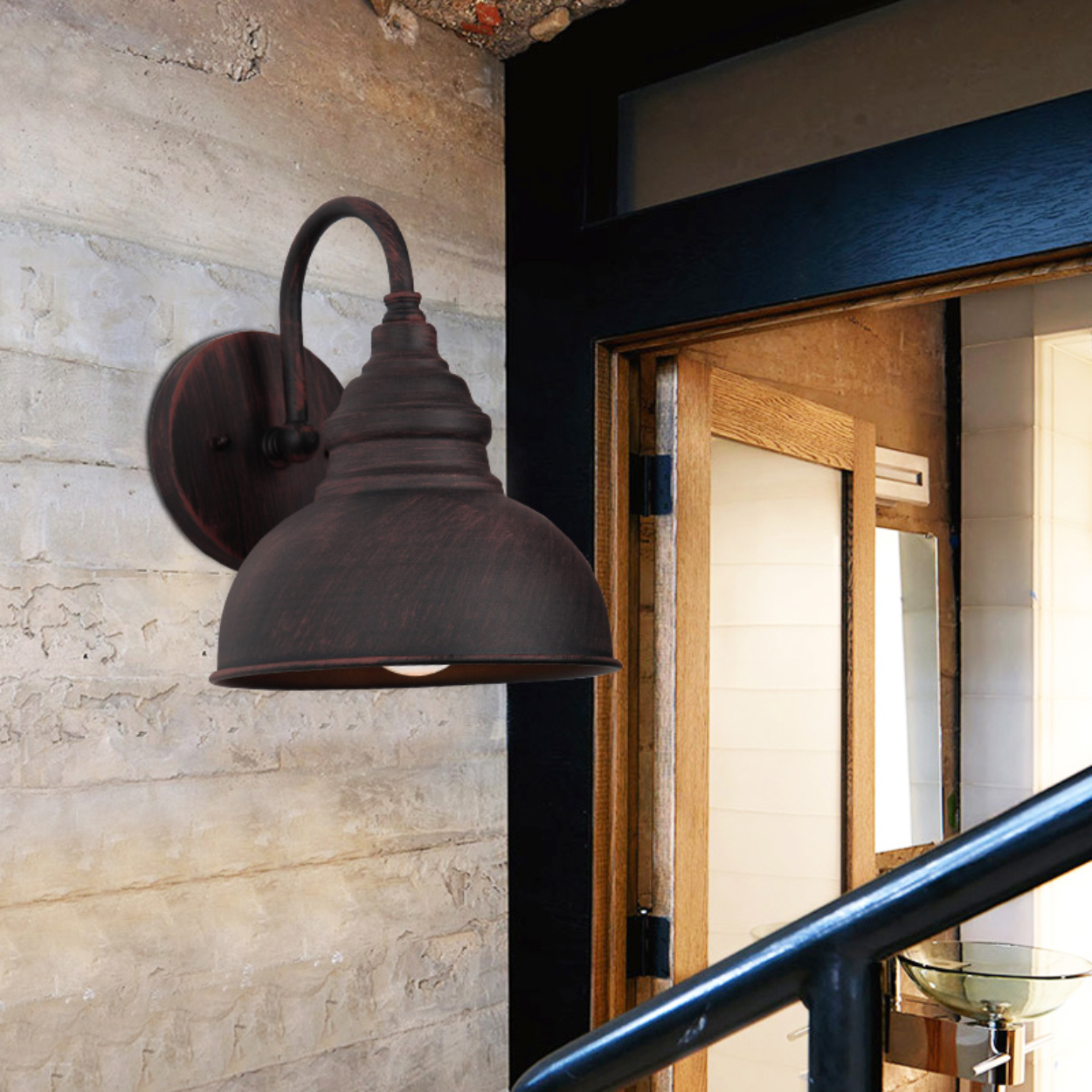 Retro Outdoor Wall Light Fixture  Villa Balcony  Lamp Waterproof Exterior Garden Doorway Light Vintage Entrance Porch Lamp