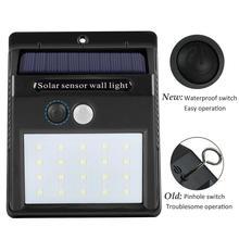Водонепроницаемый 20-25-30-48 Светодиодный светильник на солнечных батареях, настенный светильник с датчиком движения, светодиодный светильник на солнечных батареях для сада и двора