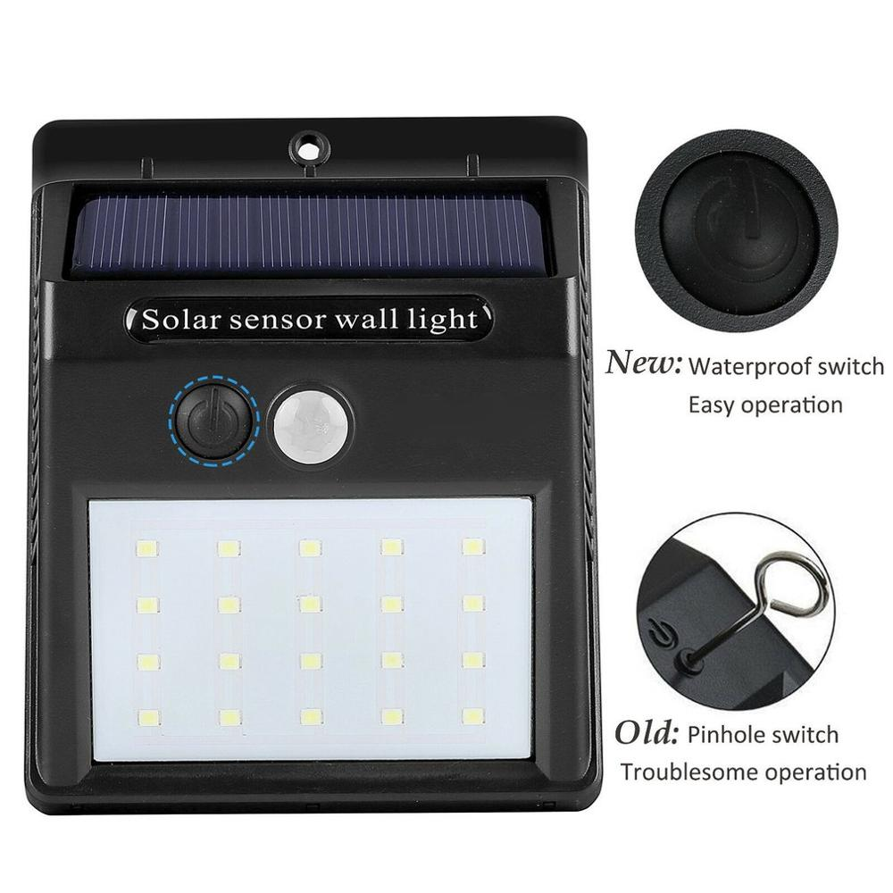 Waterproof 20-25-30-48 LED Solar Light Motion Sensor Wall Light Solar Led Outdoor Garden Yard Lamp