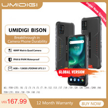 Umidigi bison ip68/ip69k impermeável robusto telefone 48mp matriz quad câmera 6.3