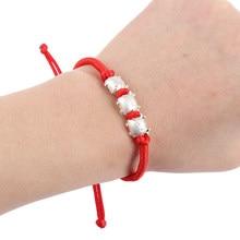 Bracelet en corde rouge porte-bonheur avec nœud chinois, 5Styles réglables, Souvenir de l'année 2021 de la vache