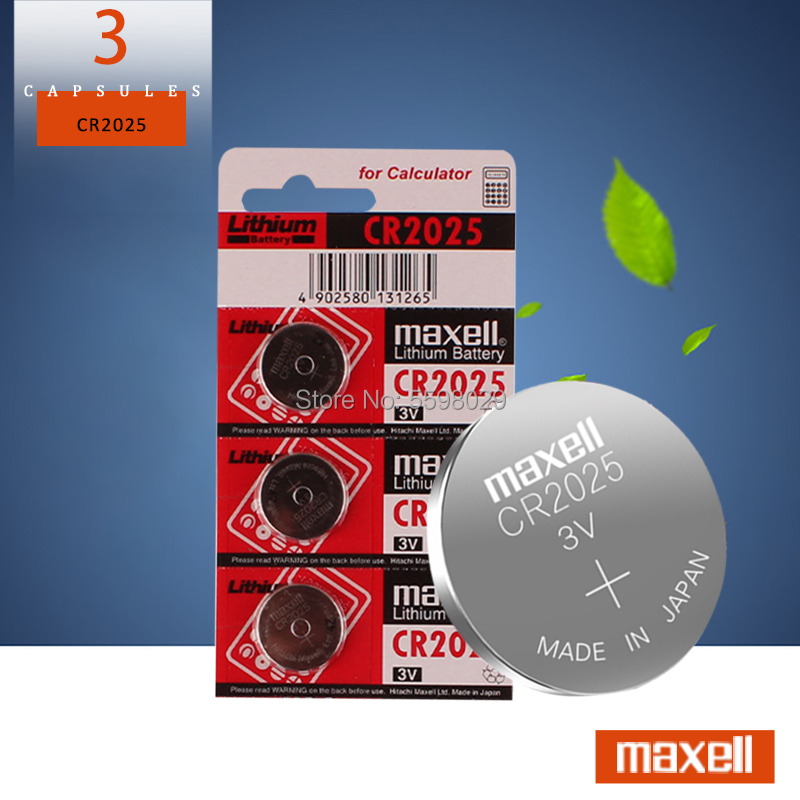 3PCS/LOT Cr 2025 3V Lithium Coin Battery Original For Maxell Cr2025 Button Cell Batteries For Watch Calculator Weight Scale