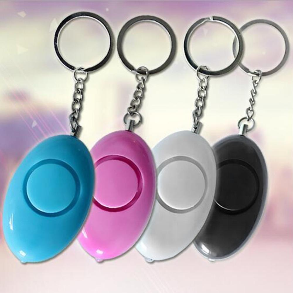 Mini Egg Shape Women Personal Safety Alarm Keyring Anti-Attack Security Protection Emergency Alarm Children School Alert