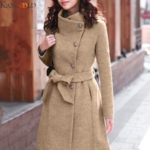 KANCOOLD Women Winter 1PC Trench Coat For Women Double Breasted Slim Fit Long Sp