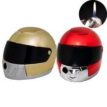 20 шт./лот крутая Зажигалка Креативный шлем в форме пламени Газовая мини-зажигалки забавная Подарочная коллекция для мужчин сигаретный воспламенитель