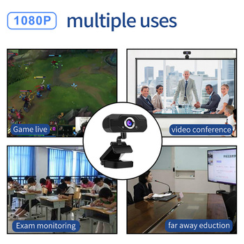 Speaker Webcam 1080p Web Camera with Microphone PC Camera Full HD Webcam 1080p Web Cam for Computor Usb Camera With Webcam Cover 6