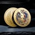 Neue Angepasst Wohlstand Gebracht durch den Drachen und Phoenix Gedenkmünze Traditionelle Qualität