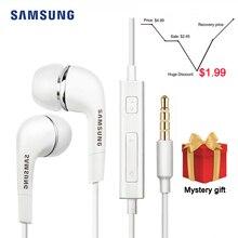 サムスン EHS64 イヤホン有線 3.5 ミリメートルで、耳マイク有線コントローラのサポートアンドロイド Xiaomi Huawei 社