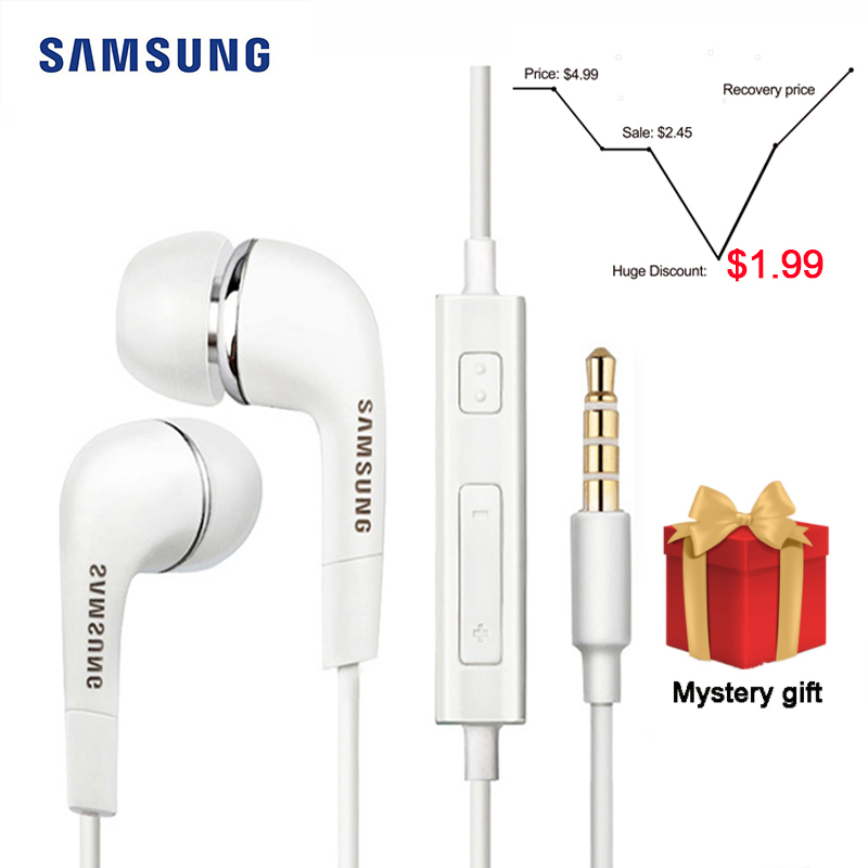 Samsung EHS64 <font><b>Earphone</b></font> Wired 3.5mm In-ear <font><b>with</b></font> <font><b>Microphone</b></font> Wired Controller Support Android for Xiaomi Huawei image