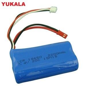 7.4V 2200mAH Li-po Battery 2S remote control helicopter 7.4 V 2200 mAH 20C 18650 Battery for wltoys 18301/18302/18311/18312