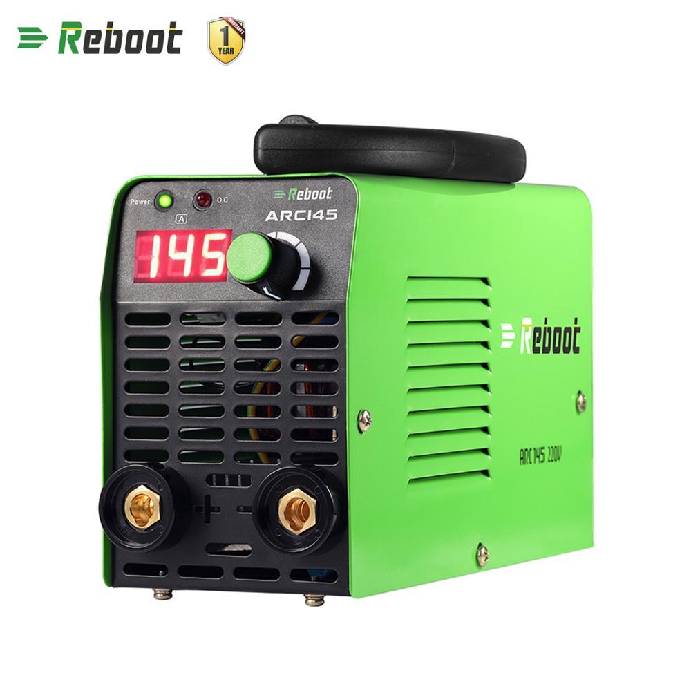 Neustart Arc Elektrische Schweißen Maschine 145A AC 220V MMA Inverter Stick Schweißer Mini Maschine 1,6-3,2mm Stangen schweiß Tragbare Schweißer