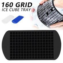 160 grilles Silicone glaçons plateau Cube fabricant barre pouding moule bricolage outil 1 pièces Silicone bac à glaçons Silicone machine à glaçons