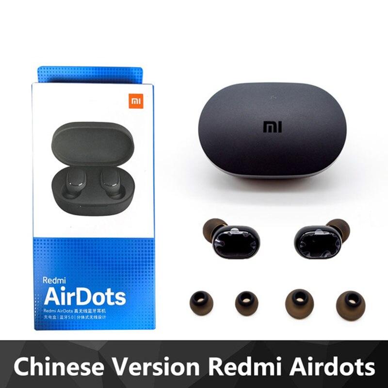 Xiaomi Redmi Airdots TWS Mi True Wireless Bluetooth Earphones Stereo Bass Bluetooth 5.0 With Mic Handsfree Earbuds Fast Shipping