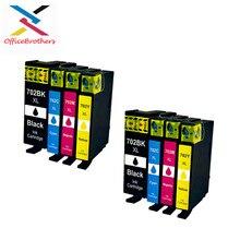 Совместимый чернильный картридж для принтера Epson 702 702XL 702 XL T702XL для Применение с рабочей силы Pro WF-3720 WF-3730 WF-3733 струйный принтер