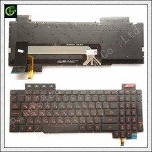 Rosyjski nowy podświetlana klawiatura dla asus rog FX503 FX503V FX503VM FX503VD RU laptop 90NR0GN1 R31US0