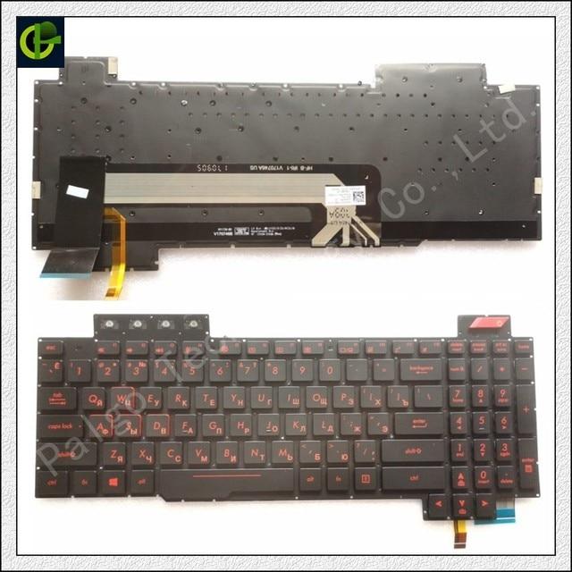 Rosyjski nowy podświetlana klawiatura dla asus rog FX503 FX503V FX503VM FX503VD RU laptop 90NR0GN1-R31US0