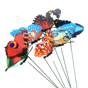 5pcs/lot 25cm Butterflies Garden Yard Planter Colorful Whimsical Butterfly Stakes Outdoor Decor Flower Pots Decoration(China)