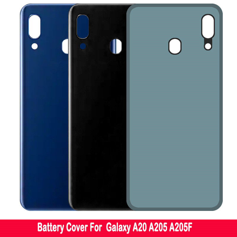 For Samsung Galaxy A20 A205 A205F Battery Cover Door Rear Housing Battery Case Replacement