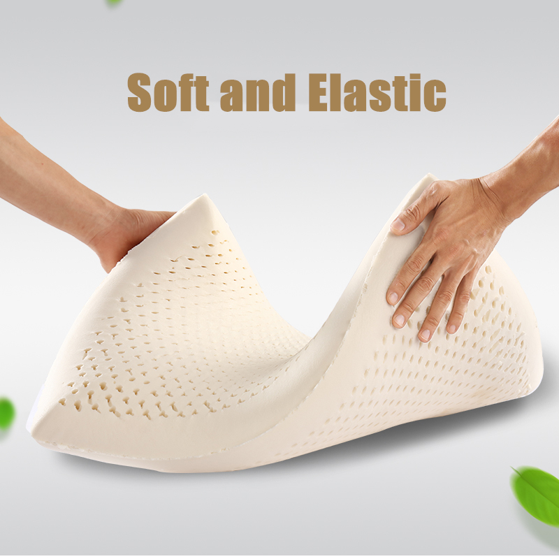 Moonlatex Thailand 100 Natural Latex Pillow Home Neck Vertebrae Health Cushion Head Meditation Orthopedic Pillow for Bed Gift in Massage Pillows from Home Garden