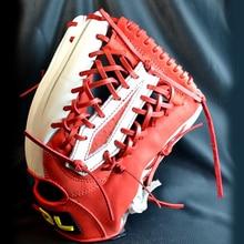 """Быстрая DL перчатки впитывающие пот профессиональная усиленная прочная натуральная кожа 1"""" /12,5"""" воловья кожа бейсбольные перчатки"""