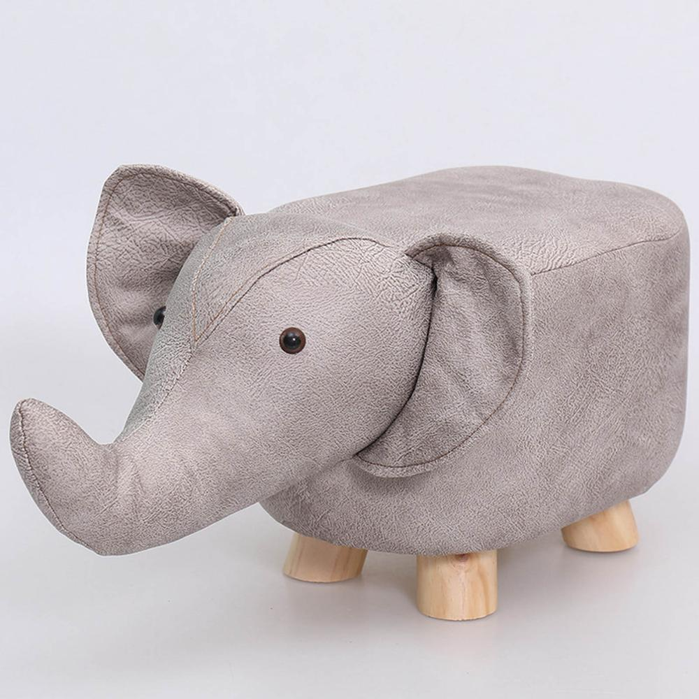 Animal Footstools Children's Stool Ottoman Fabric Pu Padded Seating Rest Chair Pouf Bench
