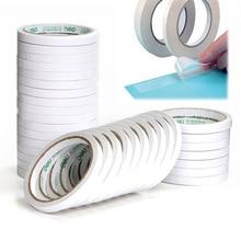Fita adesiva dupla face forte branca 8m, papel forte, ultra fina, alto adesivo, de algodão, dupla fita face dropshipping
