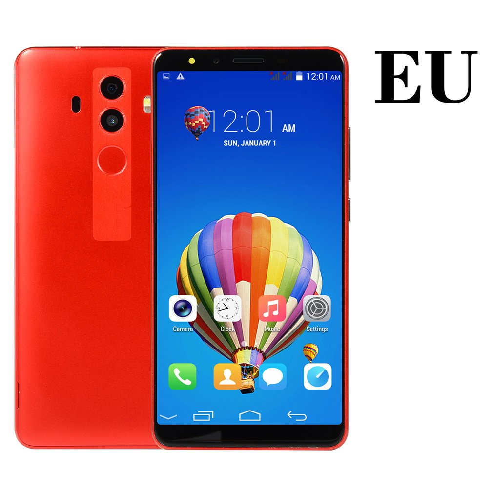 4G Smartphone 5.0 Inch Android Dual Core Dual Sim Global  Version Mobile Phone Fingerprint Machine Hd Screen Smart Phone