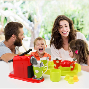 Children's Family Coffee Blender Set Kitchen Toys Girls' Simulation Mini Appliances Early Education Gifts For Children