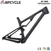 Spcycle 29er suspensão total mtb mountain bike quadros de carbono 27.5er 650b boost xc mountain carbono quadros 148*12mm