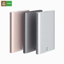Nouveau Youpin MIIIW porte carte en acier inoxydable argent Aluminium étui pour cartes de crédit femmes hommes carte didentité boîte étui poche sac à main D5