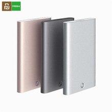 Youpin miiw carteira em aço inoxidável, porta cartões de crédito unissex, de prata e alumínio d5