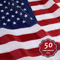 Вышитые флаги США, водонепроницаемые нейлоновые сшитые полосы, латунные люверсы, большие американские флаги и баннеры, США